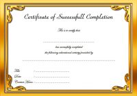 Certificate of Completion Template 3Certificate of Completion Template 3