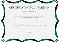 Certificate of Completion Template 4