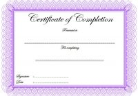 Certificate of Completion Template 6
