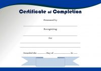 Certificate of Completion Template 7