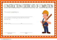 Certificate of Construction Completion Template 6