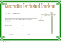 Certificate of Construction Completion Template 7