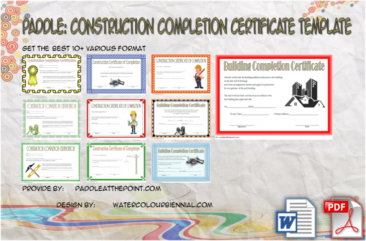 Permalink to Certificate of Construction Completion Template: 10+ NEW!