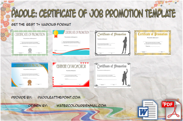Permalink to Certificate of Job Promotion Template: 7+ New Design Ideas