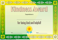 Certificate of Kindness Template 1