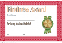 Certificate of Kindness Template 2