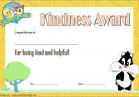 Certificate of Kindness Template 3