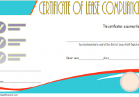 Certificate of Lease Complience Template 2