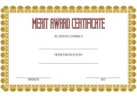 Certificate of Merit Award Template 2