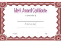 Certificate of Merit Award Template