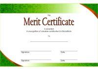 Certificate of Merit Award Template 4