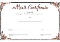 Certificate of Merit Award Template 7