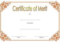 Certificate of Merit Award Template 8