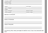 Certificate of Origin Template 3