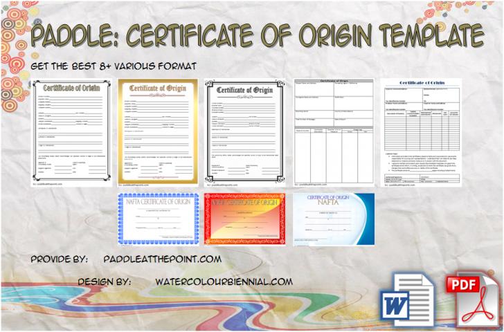Permalink to Certificate of Origin Template: 8+ Latest Designs