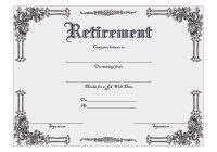 Certificate of Retirement 7