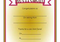 Certificate of Retirement 8