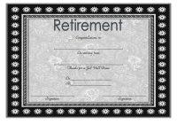 Certificate of Retirement 9