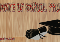 Certificate of School Promotion Ideas by Paddle