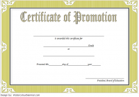 Certificate of School Promotion Template 1 FREE