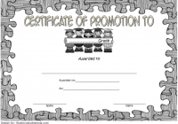 Certificate of School Promotion Template 10 FREE