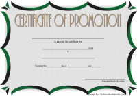 Certificate of School Promotion Template 3 FREE