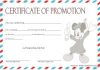 Certificate of School Promotion Template 6 FREE