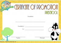 Certificate of School Promotion Template 8 FREE