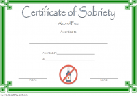Certificate of Sobriety Template 3