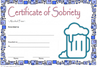 Certificate of Sobriety Template 4