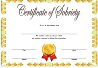 Certificate of Sobriety Template 7