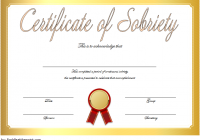 Certificate of Sobriety Template 9