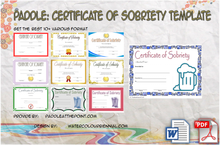 Permalink to Certificate of Sobriety Template Free – 10+ Newest Designs