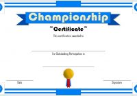 Championship Certificate 3