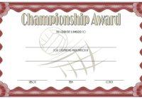 Championship Certificate 4