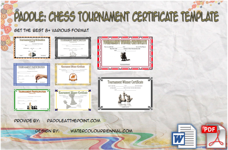 Permalink to Chess Tournament Certificate Template FREE: 8+ Winner Ideas