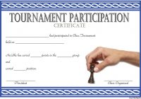 Chess Tournament Participation Certificate Template FREE 2