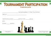 Chess Tournament Participation Certificate Template FREE 3