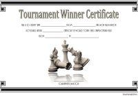 Chess Tournament Winner Certificate Template FREE 1