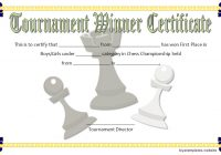 Chess Tournament Winner Certificate Template FREE 3