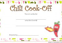 Chili Cook Off Certificate Template 10