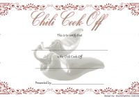 Chili Cook Off Certificate Template 8