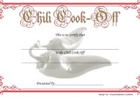 Chili Cook Off Certificate Template 9