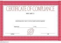 Compliance Certificate Template 6