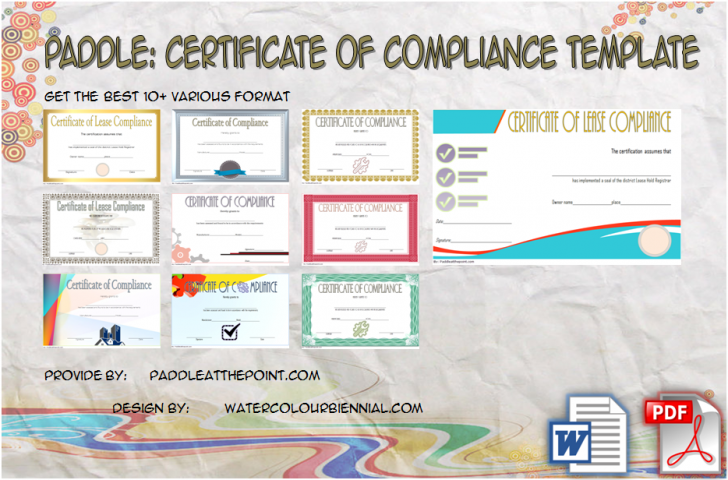 Permalink to Certificate of Compliance Template: 10+ Latest Designs FREE