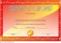 Conformity Certificate Template 2