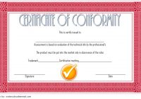 Conformity Certificate Template 4