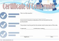 Conformity Certificate Template 5
