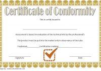 Conformity Certificate Template 6