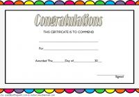 Congratulation Award Certificate Template 1